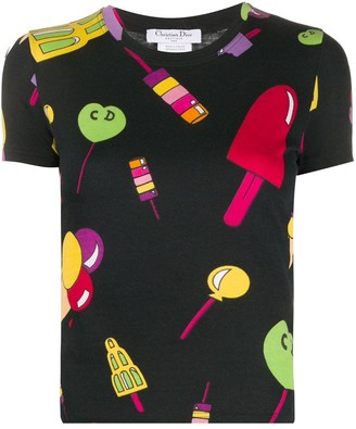 2000s ice cream print T-shirt