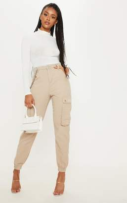 PrettyLittleThing Stone Cord Cargo Trouser