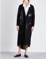 Yohji Yamamoto Dolman splat cotton-canvas coat