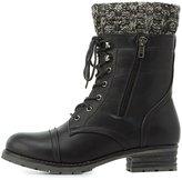 Charlotte Russe Knit-Trim Combat Boots