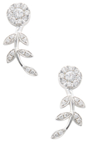 Rina Limor Fine Jewelry 18K White Gold & 0.64 Total Ct. Diamond Flower Drop Earrings