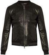 Dolce & Gabbana Slim-fit Leather Bomber Jacket