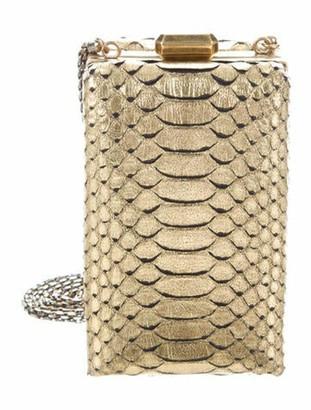Chanel Python Kiss-Lock Miniaudiere Metallic