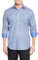Bugatchi Men's Classic Fit Check Sport Shirt