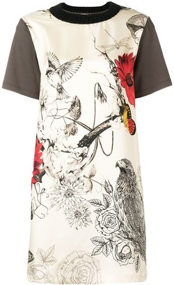 Moncler bird print T-shirt dress