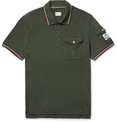 Moncler Gamme Bleu Slim-Fit Contrast-Tipped Cotton-Piqué Polo Shirt