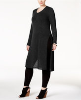 ING Trendy Plus Size Split-Side Tunic Sweater