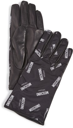 Moschino Logo Gloves