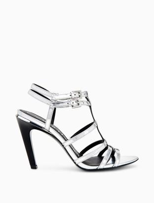 Calvin Klein Gili Metallic Box Leather Sandal
