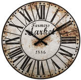 August Grove 47 Farmers Market Oversized Wall Clock