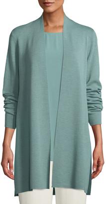 Eileen Fisher Petite Ultrafine Merino Straight Long Cardigan