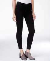 Free People Roller High-Rise Black Wash Cropped Skinny Jeans