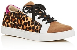 Kenneth Cole Women's Kam Animal-Print Lace Up Sneakers