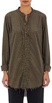 NSF Women's Mirabelle Cotton-Blend Shirt-GREEN