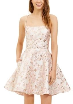 B. Darlin Juniors' Lace-Up A-Line Dress