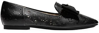 Cole Haan Tali Soft Bow Lasercut Leather Loafers