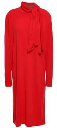 By Malene Birger Knotted Stretch-crepe Dress