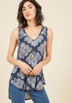 ModCloth Infinite Options Tank Top in Blue Paisley in 2X