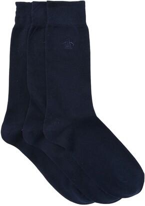 Original Penguin Solid Crew Socks - Pack of 3