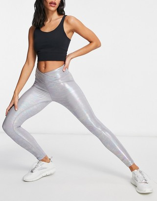 Lorna Jane gloss leggings in grey
