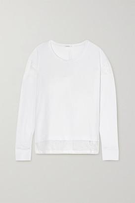 Koral Pasto Brisa Mesh-trimmed Stretch-jersey Top - White
