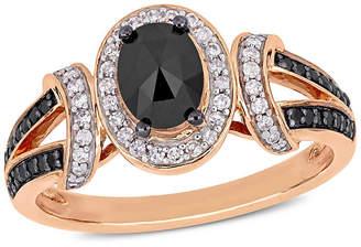 Black Diamond FINE JEWELRY Womens 1 CT. T.W. Genuine 10K Rose Gold Cocktail Ring