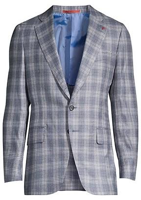 Isaia Plaid Cashmere & Silk Sportcoat