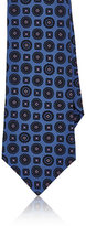 Kiton Men's Floral-Medallion Silk Necktie-LIGHT PURPLE