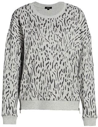 Rails Marlo Leopard Print Zip Sweater