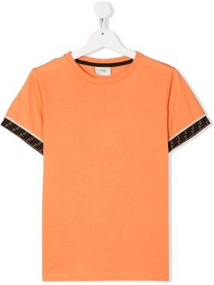 Fendi Kids TEEN Double F trim T-shirt
