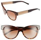 Burberry Women's 55Mm Retro Sunglasses - Dark Tortoise