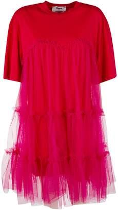 MSGM Fringe Layered Short Dress