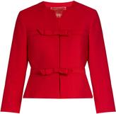 Giambattista Valli Cropped bow-embellished crepe jacket