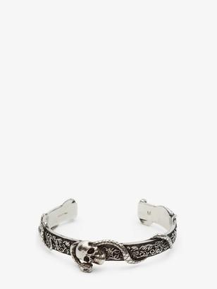 Alexander McQueen Skull and Snake Bracelet