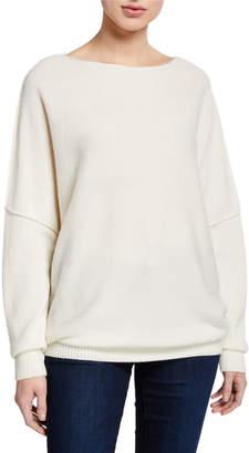 Lafayette 148 New York Cashmere Bateau-Neck Sweater