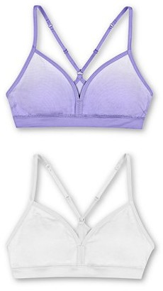 Hanes Girls' Seamless Molded Racerback Bra, 2 Pack, Sizes 4-16