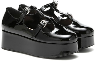 Miu Miu Patent leather platforms
