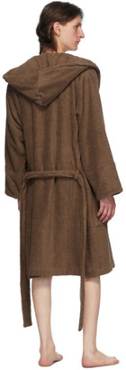 Tekla Brown Hooded Bathrobe