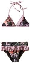 Hurley Sunset Palms Tri Top & Skirt Bottom (Little Kids)