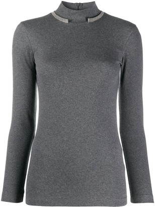 Brunello Cucinelli Long-Sleeved Mock Neck Sweater
