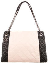 Chanel Two-Tone Quilted Shopping Tote