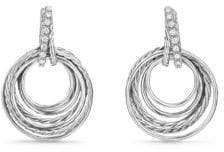 David Yurman Crossover Drop Earrings with Diamonds