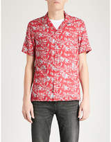 The Kooples Palm And Skull-print Fitted Poplin Shirt