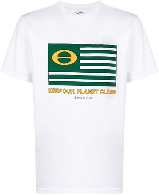 Sporty & Rich Keep our Planet Clean T-shirt