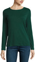 ST. JOHN'S BAY St. John's Bay Long Sleeve Crew Neck T-Shirt-Womens