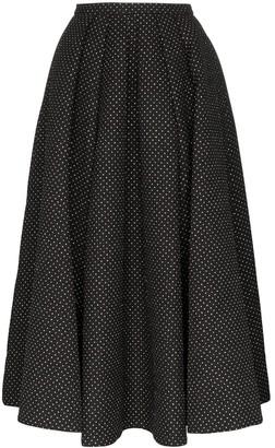 Rosie Assoulin Glitter Polka Dot Full Skirt