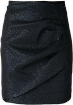 IRO ruched mini skirt - women - Cotton/Polyester/Viscose - 36
