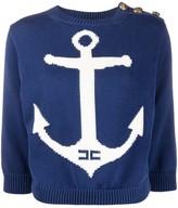 Elisabetta Franchi anchor print sweatshirt