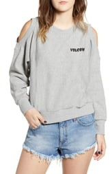 Volcom Edit N Crop Logo Sweatshirt