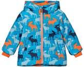 Hatley Blue Moose Print Puffer Coat